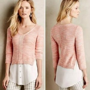 Anthropologie Moth aselin layered sweater over top
